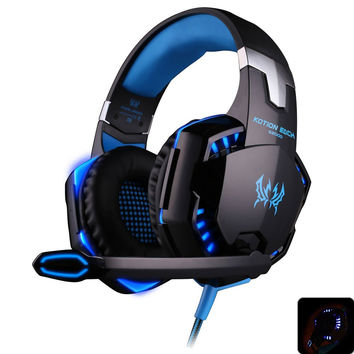 EACH G2000 Deep Bass Game Headphone Stereo Surrounded Over-Ear Gaming Headset Headband Earphone with Light for Computer PC Gamer