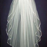 New 2T White Or Ivory Bride Bridesmaid Wedding Dress Accessories Veil +Comb