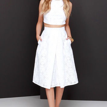 Piece and Harmony Ivory Two-Piece Dress
