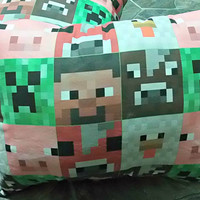christmas sale MINECRAFT Creeper pillow - WAY OVERSTUFFED - Ready to ship now