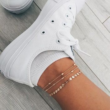 Shoeselfee Dainty Disc Anklets