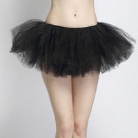 Tutu Lace Trimmed Skirt
