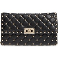 Valentino Rockstud Quilted Lambskin Leather Clutch | Nordstrom