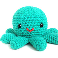 Hector the Octopus - Cute Amigurumi Crocheted Stuffed Animal Plush - Custom Color Option