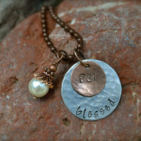 Proverbs 31 Metal Stamped Necklace