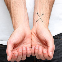 Straight Shooter - Temporary Tattoo (Set of 2)