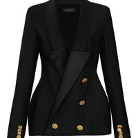Ellery Hallucinogen Double-Breasted Tuxedo Blazer Black
