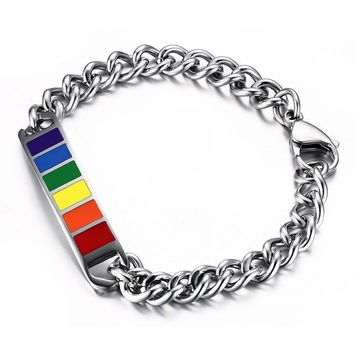 BRACELET JEWELRY LGBT Women's Lesbian Stainless Steel Gay Pride Anti Homophobic