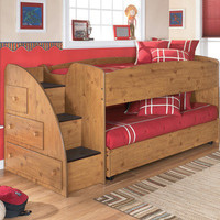 Signature Design by Ashley Elsa Twin Loft Bed with  Optional Trundle Bed and Storage | Wayfair