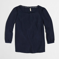 FACTORY SCALLOPED-COLLAR TOP