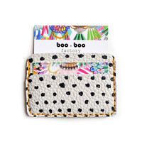 Polka Dot Art Wallet, Modern Card Case, Minimal Wallet | Boo and Boo Factory - Handmade Leather Jewelry