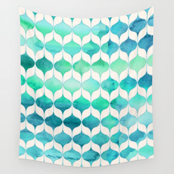 Ocean Rhythms and Mermaid's Tails Wall Tapestry by Micklyn
