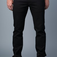 {True Grit} Slim Straight Jeans in Infamous Black