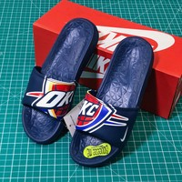 Nba X Nike Benassi Solarsoft Slide Blue Sandals - Best Online Sale