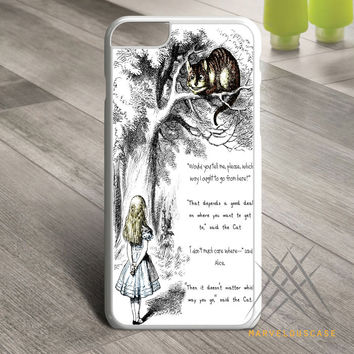 Cat Cheshire Quote Custom case for iPhone, iPod and iPad