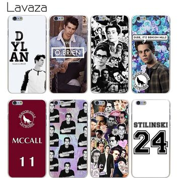 Lavaza Teen Wolf Dylan Obrien Hard Transparent Cover Case for iPhone X 10 8 7 6 6S Plus 5 5S SE 5C 4 4S