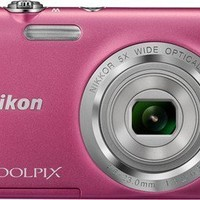 Nikon Coolpix S2800 20.1 MP Point and Shoot Digital Camera with 5x Optical Zoom (Pink) International Version No Warranty
