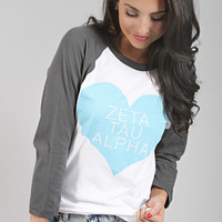 Greek Love Raglan - Zeta Tau Alpha