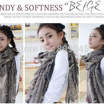 fashion silk scarf chiffon shawl long scaves women The disk of sika deer natural and pure and fresh 1pcs/lot SW21