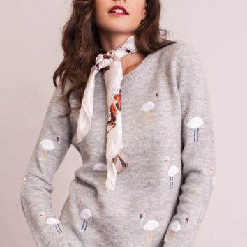 Flock Together Embroidered Sweater