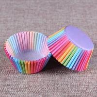 100 pcs rainbow cupcake paper liners Muffin Cases Cup Cake Baking egg tarts tray kitchen accessories Pastry decorating Tools-in Stands from Home & Garden on Aliexpress.com | Alibaba Group