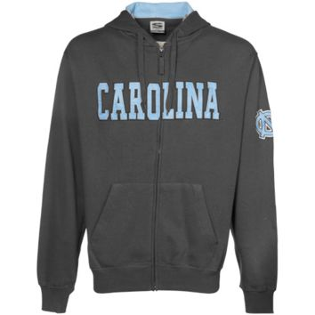 North Carolina Tar Heels :UNC: Charcoal Classic Twill Full Zip Hoodie Sweatshirt