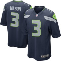 Mens Seattle Seahawks Russell Wilson Nike College Navy Game Jersey