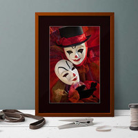 Extra Large Clown Art Print. Colorful Circus Photograhy, Large Circus Decor. Clown Art Home Decor. Colorful Poster Art