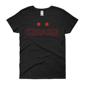 Guardians Of The Galaxy And Acdc Inspired Star Lord Women'S T Shirt