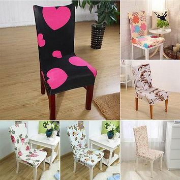 Removable Chair Cover Dining Room Seat Protector Slipcover EASY Stretch -HOT