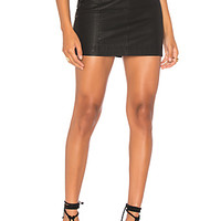 Free People Modern Femme Vegan Mini Skirt in Black | REVOLVE