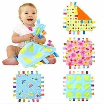 7Style 30cm Baby Comforting Taggies Blanket Super Soft Square Plush Baby Appease Towel Baby Toys
