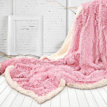 Luxurious -Double Sided Throw Blanket Faux Fur