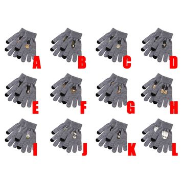 Cartoon Harri Potter Hermione Granger Ron Weasley Severus Snape Draco Malfoy Hedwig Dumbledore Knitted Gloves Cosplay Costume