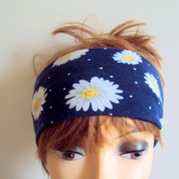 Daisy Headband Beach Headband Yoga Headband Fitness Headband Running Headband