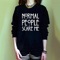 Casual Character Print Long Sleeve Round Neck Swearter