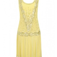 Zelda Flapper Dress Yellow