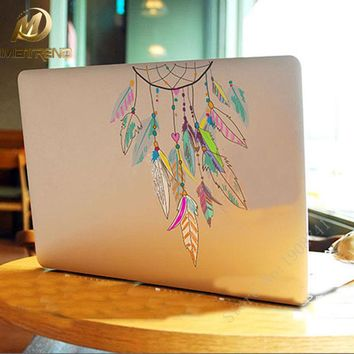 Dreamcatcher Laptop Sticker For Apple Macbook Pro Air 11 13 15 inch Indian Feather Vinyl Decal