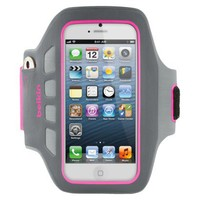 Belkin Dayglo Easefit Plus Armband for iPhone®5 - Gray/Pink (F8W106ttC03)