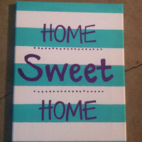 Home Sweet Home 9 x 12 inch canvas