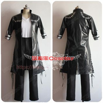 My Hero Academia Boku No 3rd Season DABI Black Outfit Leather Trench Cosplay Costume Full Set