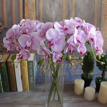 Artificial Silk Flower Plant For Party Wedding Home Decor Butterfly Orchid