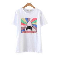Shark Printed T-Shirts Women's