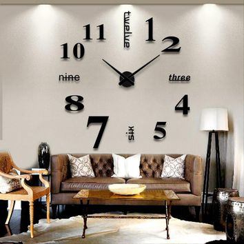 1PC 3D DIY Large Decorative Wall Clocks