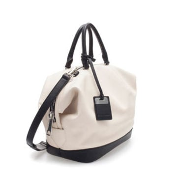 TWO - TONE BOWLING BAG - Handbags - Woman | ZARA United States