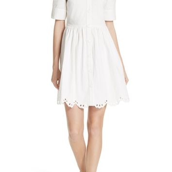 kate spade new york cutwork denim shirtdress | Nordstrom
