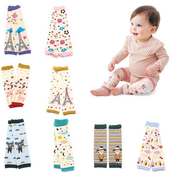Baby Leg Warmers Boy Girls Legging Tights Cotton Cute Print Flowers Animals Socks Infant Toddler Leg warmers Knee Pad