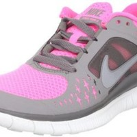 Women's Nike Free Run 3 Running Shoe Pink/Grey/Silver Size 9