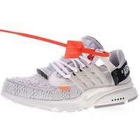 "Off White x Nike Air Presto 1 Running Sneaker ""OW White"" AA3830-001"