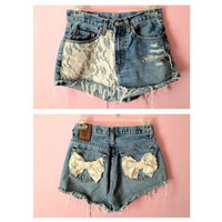 Lace Jeans with Bows